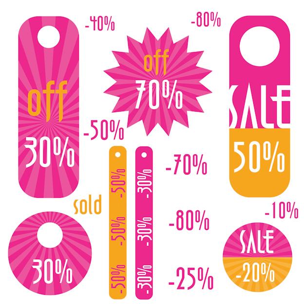 free vector Simple discount sales tag vector