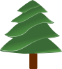 free vector Simple Evergreen, With Highlights clip art 115212