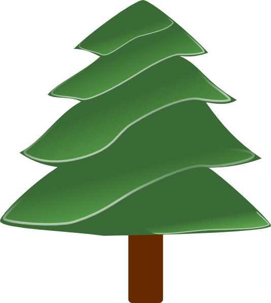 free vector Simple Evergreen, With Highlights clip art