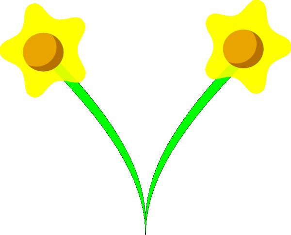 free vector Simple Five Pettle Daffodil clip art