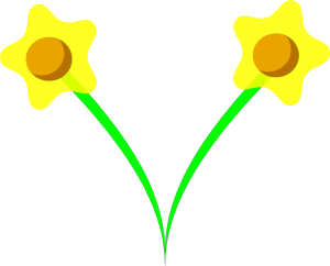 free vector Simple Five Pettle Daffodil clip art