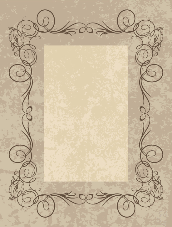 free vector Simple frame vector 6241