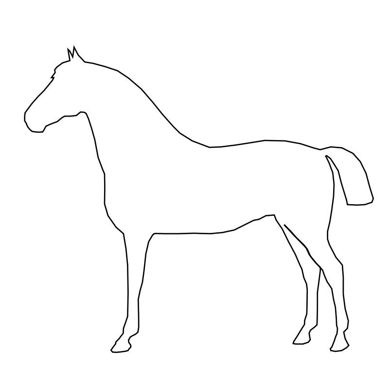 Simple Horse Free Vector / 4Vector