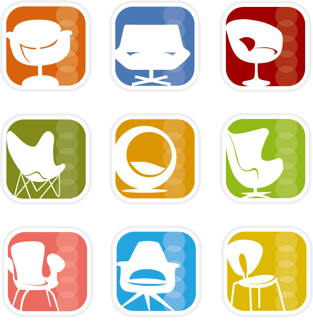 free vector Simple icon vector graphics material