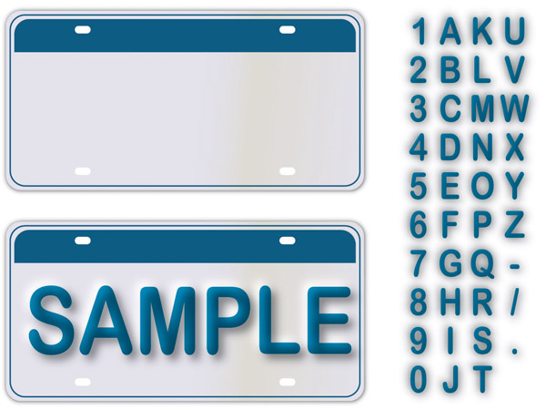 free vector Simple letter number u0026amp vector