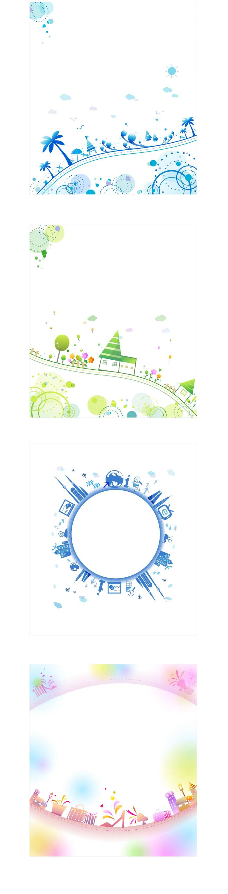 free vector Simple life theme vector