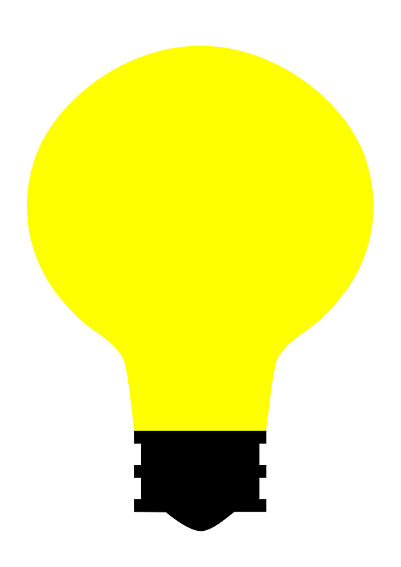 free vector Simple Light Bulb