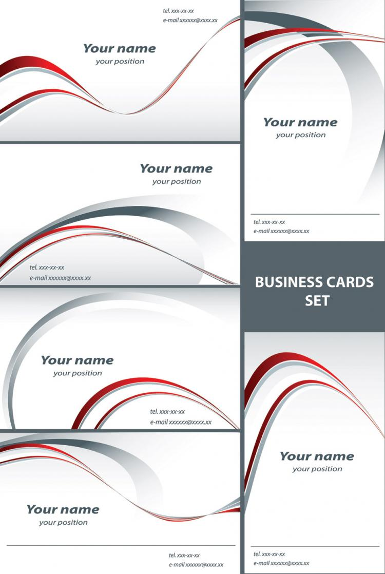 Simple line card template vector Free Vector / 4Vector