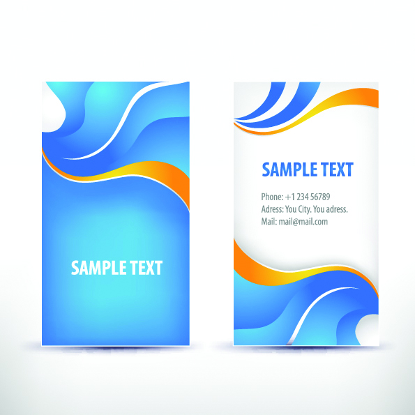 free vector Simple pattern business card template 02 vector