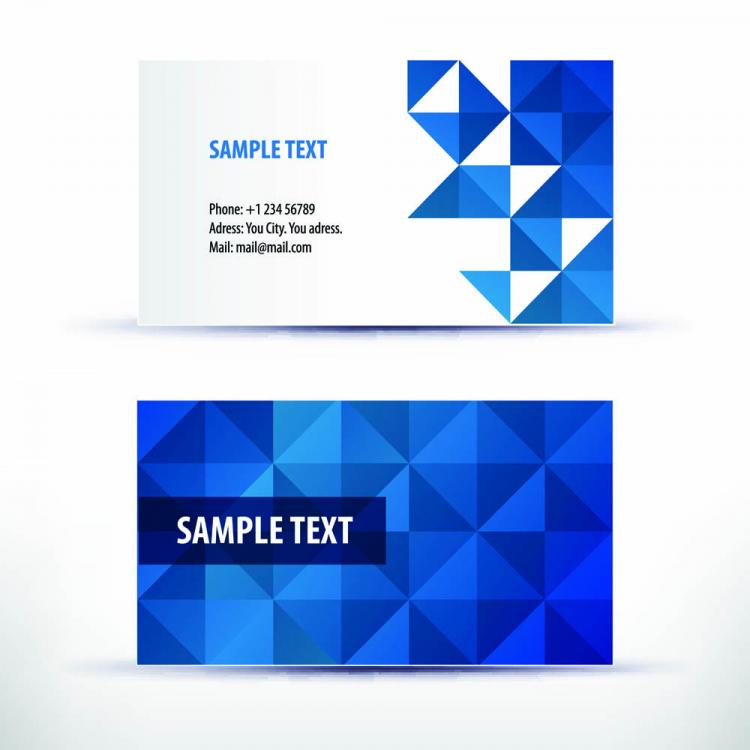 Simple Pattern Business Card Template Vector Free Vector Vector - Business card designs templates