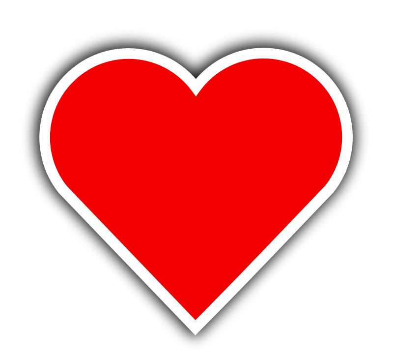 free vector Simple Red Heart