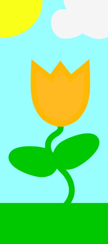 free vector Simple spring scene