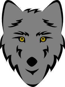 free vector Simple Stylized Wolf Head clip art 128095
