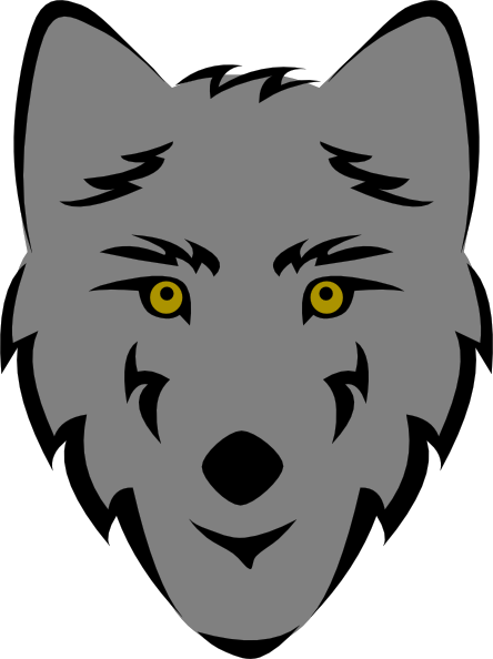 free vector Simple Stylized Wolf Head clip art