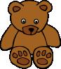free vector Simple Teddy Bear clip art