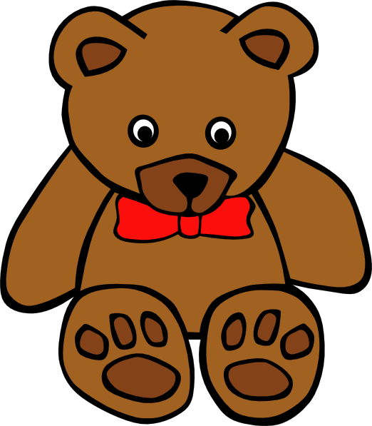 simple teddy bear with bow clip art free vector 4vector rh 4vector com clip art bears in love clip art bears pictures