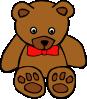 free vector Simple Teddy Bear With Bow clip art