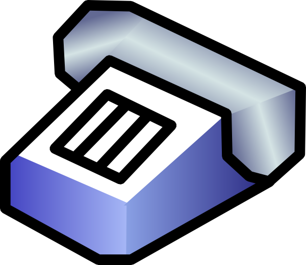 free vector Simple Telephone clip art