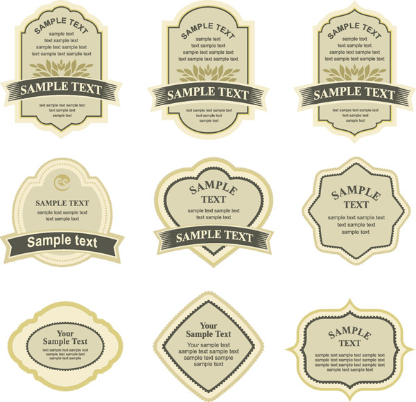 free vector Simple vector bottle label affixed