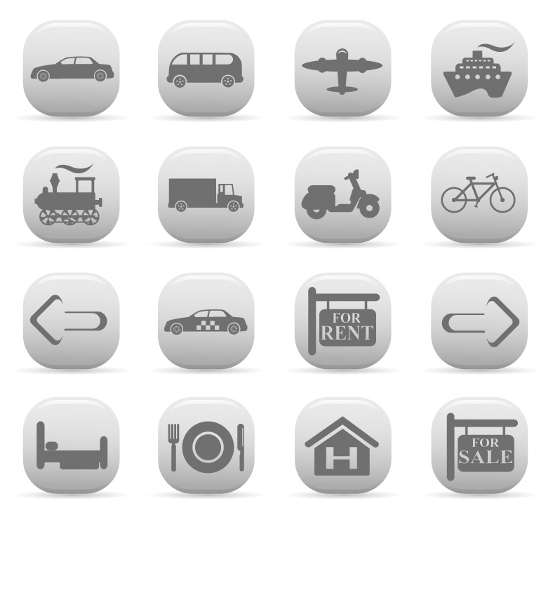 free vector Simple Vector Travel Set