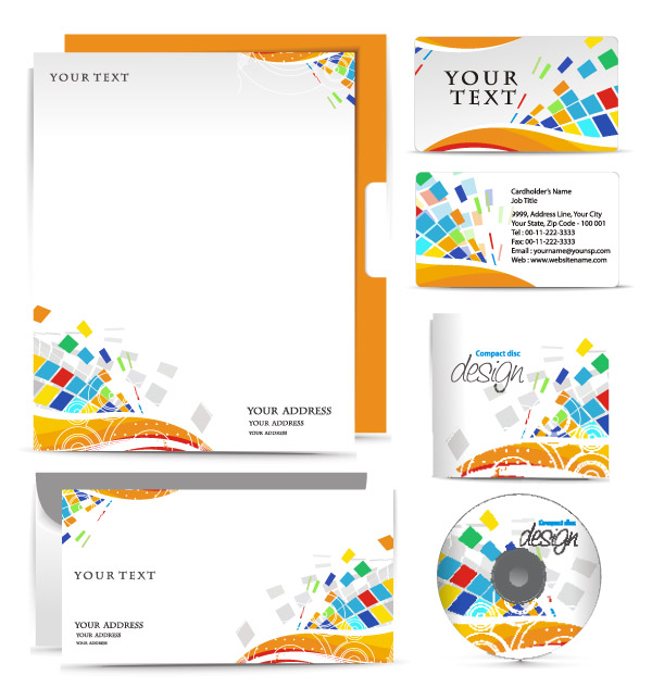 free vector Simple vi template vector 3715