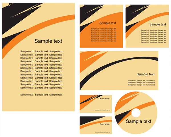 free vector Simple vi template vector