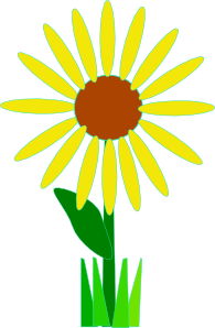free vector Simple Yellow Flower clip art