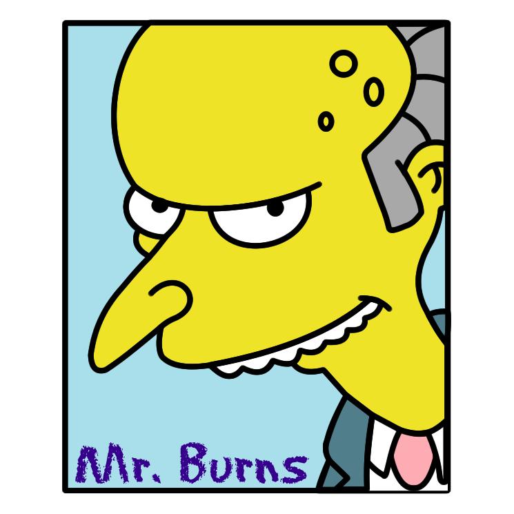 free vector Simpsons mr burns