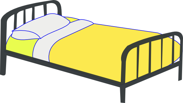 free vector Single Bed clip art