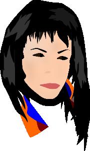 free vector Sinvision Rostro Mujer clip art