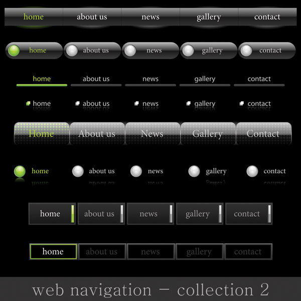 free vector Site navigation and buttons vector