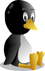 free vector Sitting Baby Pinguin Tux clip art