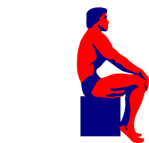 free vector Sitting Body Builder clip art