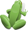 free vector Sitting Frog clip art