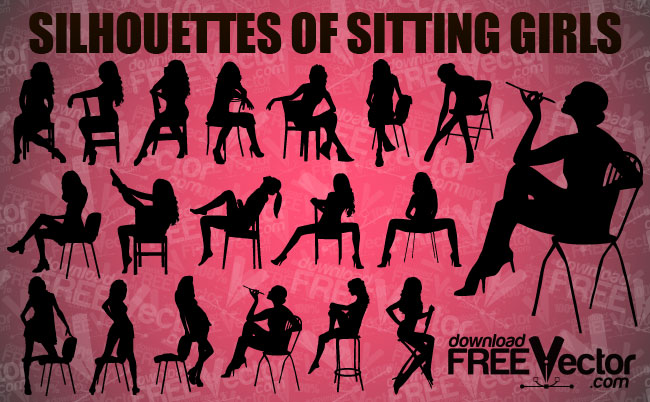 free vector Sitting Girl Vector Pack