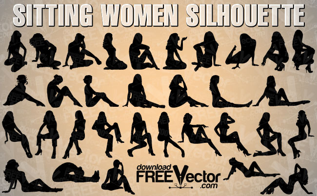 free vector Sitting Woman Vector