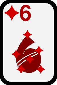 Six Of Diamonds clip art (105017) Free SVG Download / 4 Vector