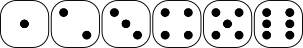 free vector Six-sided Dice Faces clip art