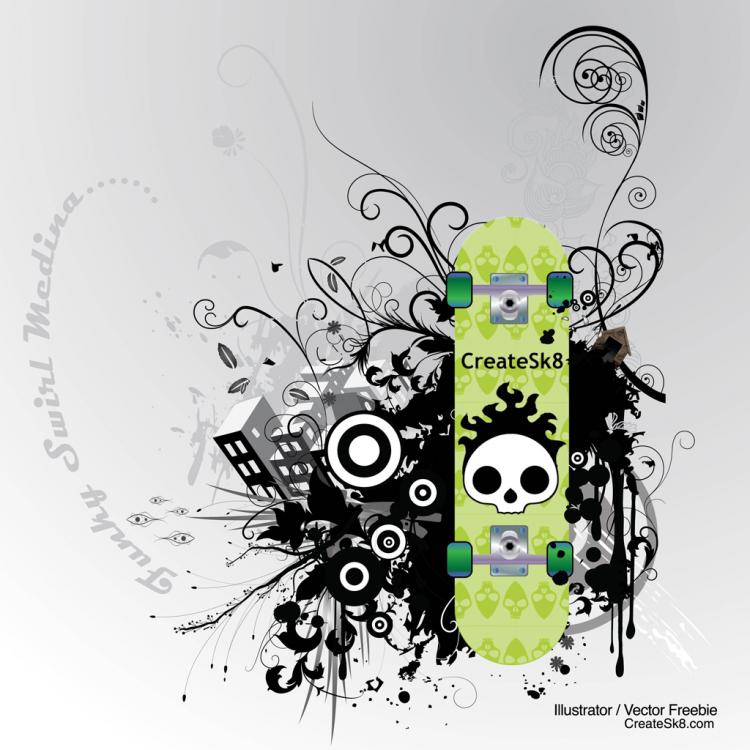 free vector Skate Graphics