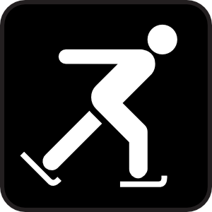 free vector Skating On Ice clip art