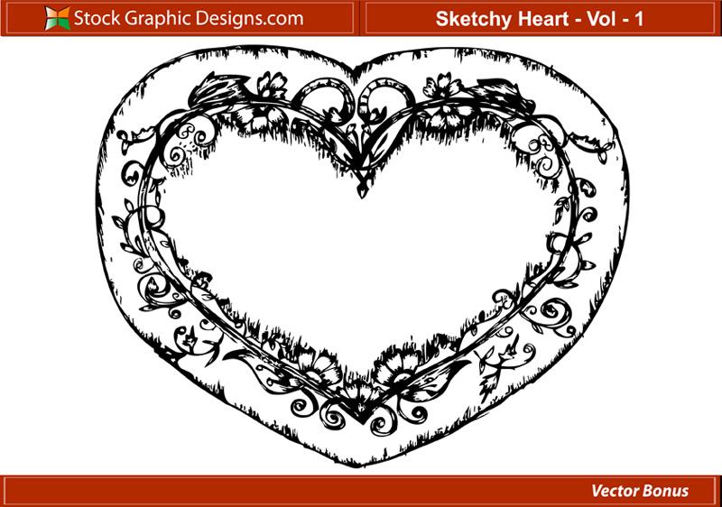 free vector Sketchy Heart
