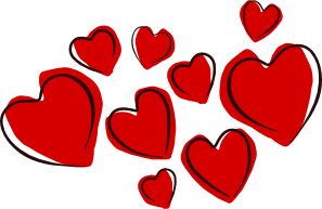 free vector Sketchy Hearts clip art