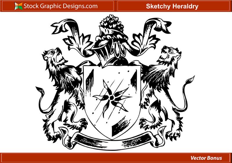 free vector Sketchy heraldry free vector
