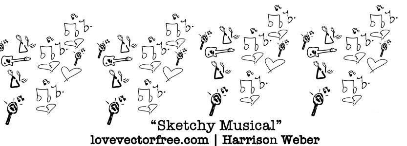 free vector Sketchy Musical Vector