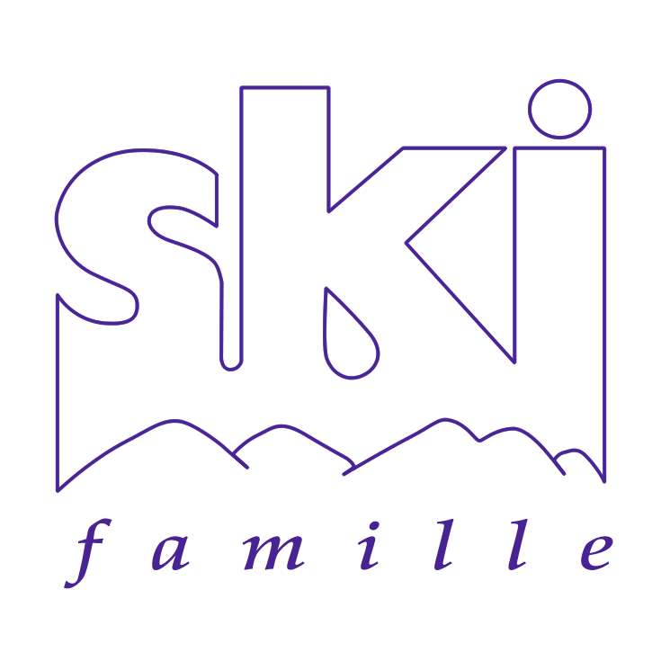 free vector Ski famille