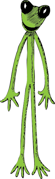 free vector Skinny Frog clip art