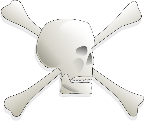 free vector Skull-and-bones-aj clip art