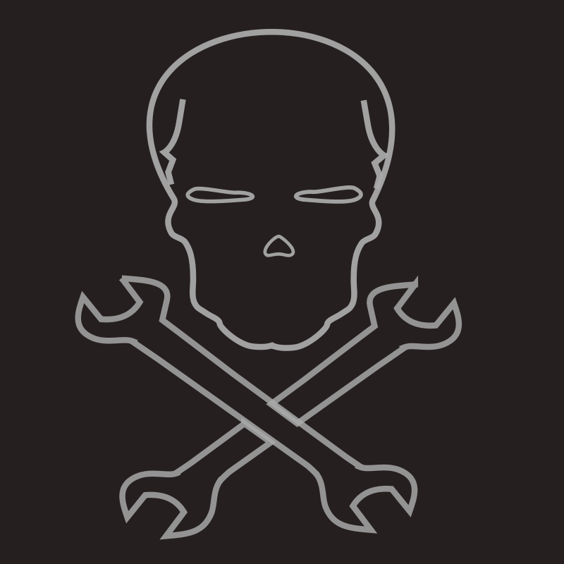 free vector Skull and cross wrenches