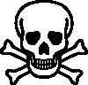 free vector Skull And Crossbones clip art