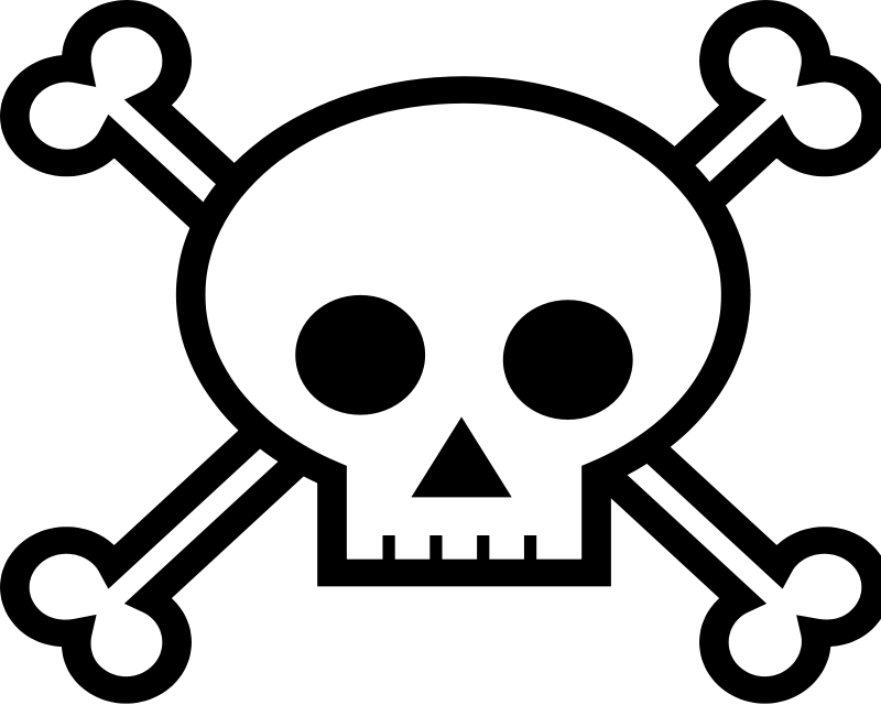 skull and crossbones free vector 4vector rh 4vector com skull and crossbones flag vector pirate skull and crossbones vector